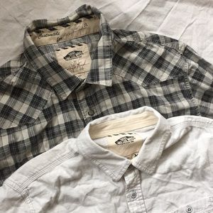 2 Vans Long sleeve medium shirts